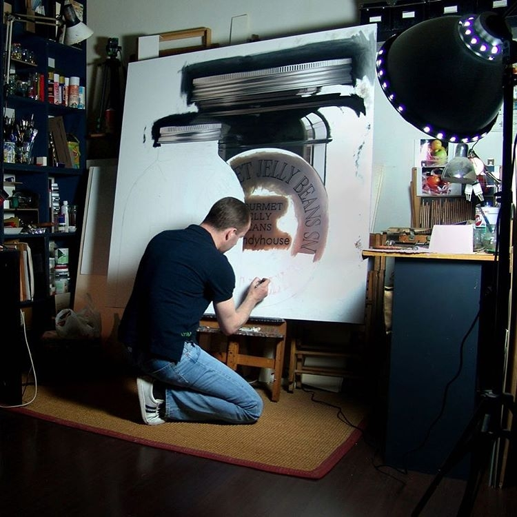 12-Work-in-Progress-WIP-Pedro-Campos-Realistic-Paintings-Coupled-with-Classic-Items-www-designstack-co