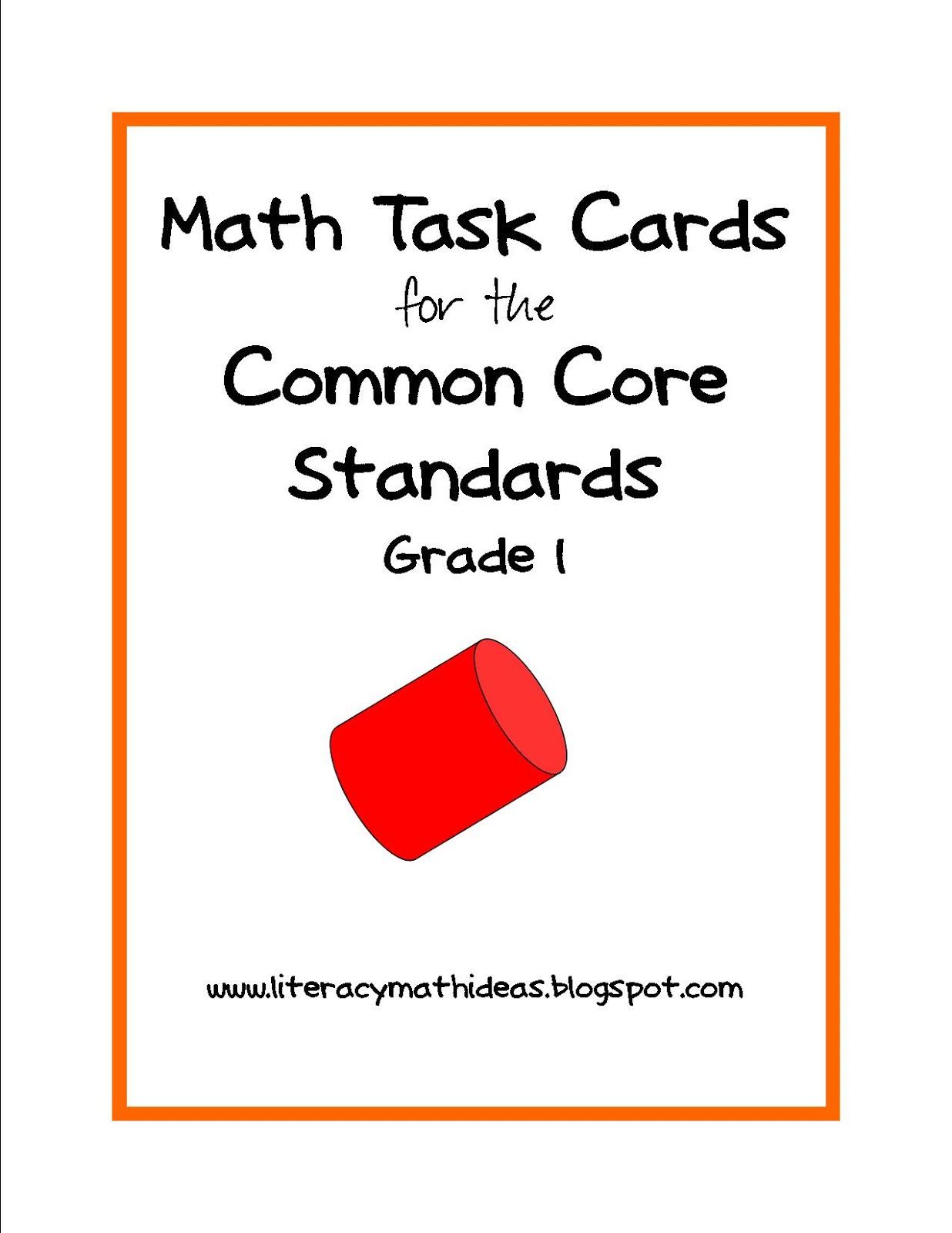 Literacy Amp Math Ideas Math Common Core Standards Task