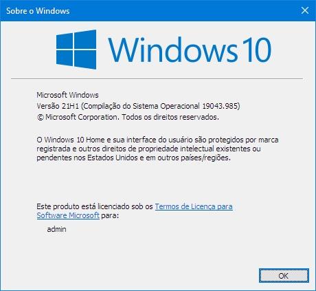 Windows10-v21H1-Compilação19043.985