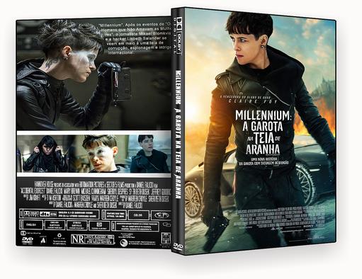 CAPA DVD – Millennium A Garota na Teia de Aranha – ISO