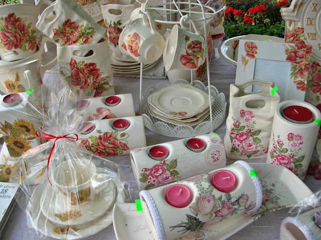 Na jarmarku w Pszczewie było dużo ceramiki.