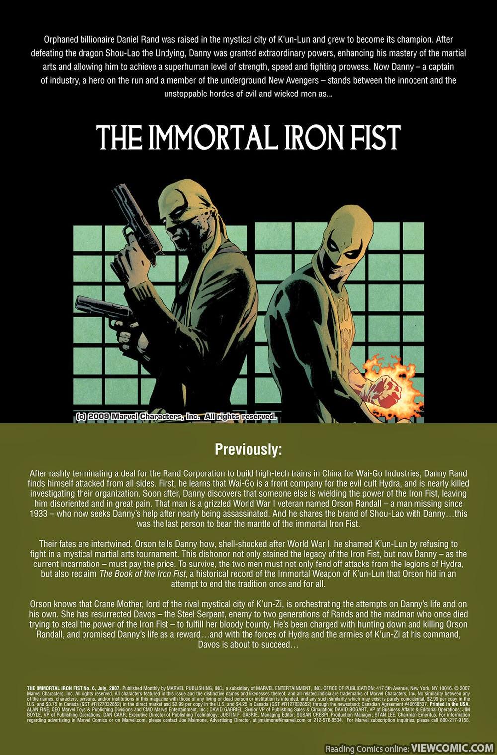 The immortal iron fist 23