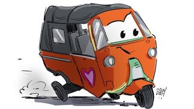 Gambar mobil lucu kartun