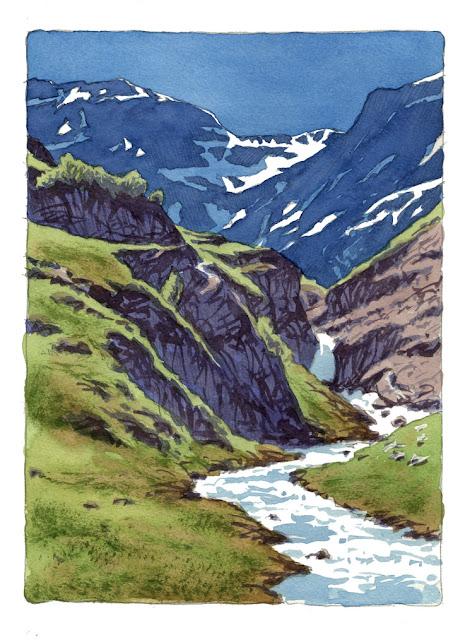 lorenzo dotti sketcher: Esercizio n 15 dipingere un ruscello