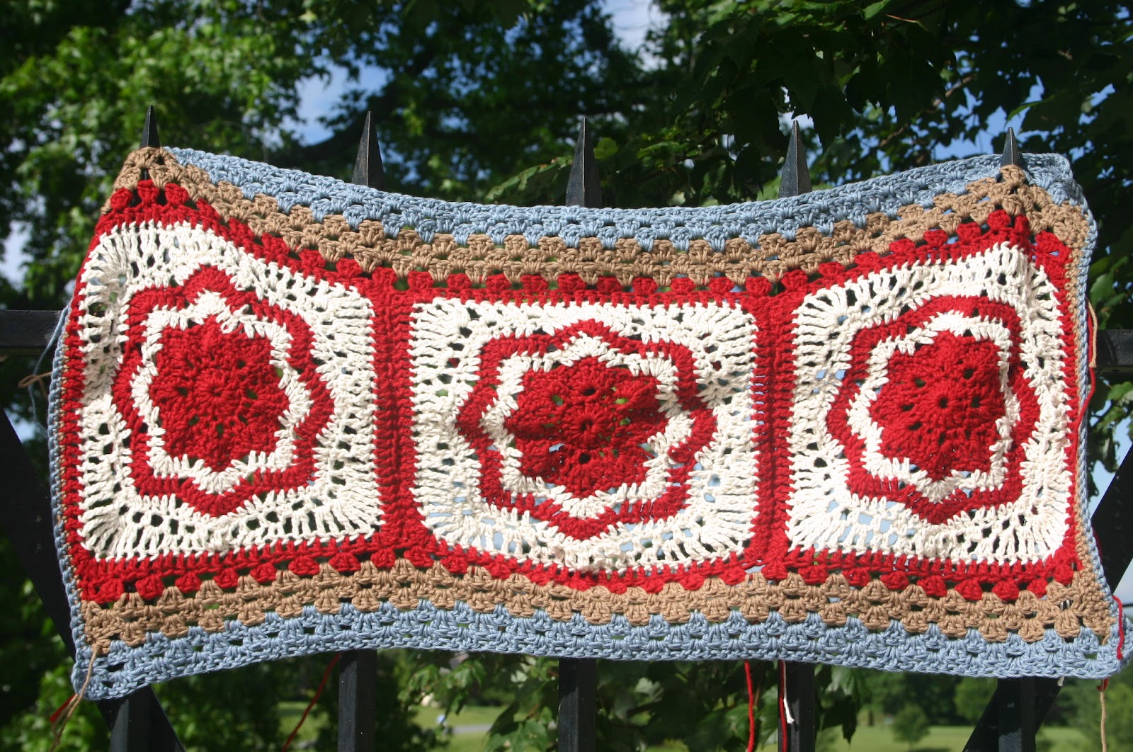 From The Hearth Room Crochet Valance In The Making