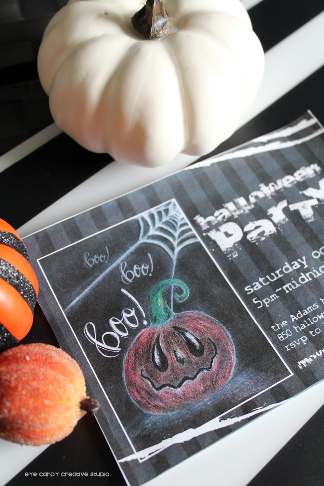 chalk art drawing, halloween invitation, halloween party, boo, hand lettering