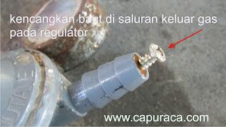 Cara memperbaiki kompor gas yang apinya kecil