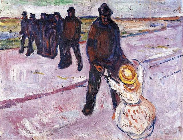 Эдвард Мунк - Рабочий и дитя. 1908
