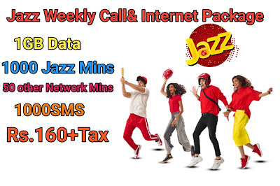 Jazz Weekly All Network Call Package with 1GB DATA