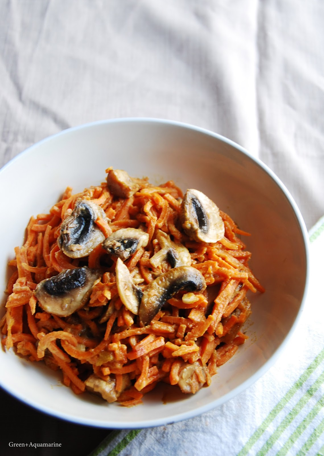 Vegan sweet potato satay noodles. Via @eleanormayc