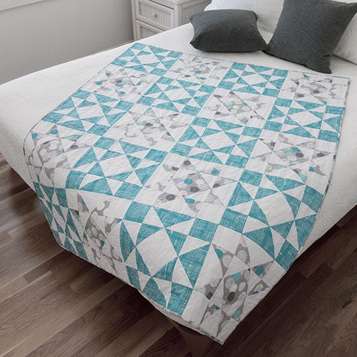 Diamond Star Throw Quilt Free Pattern