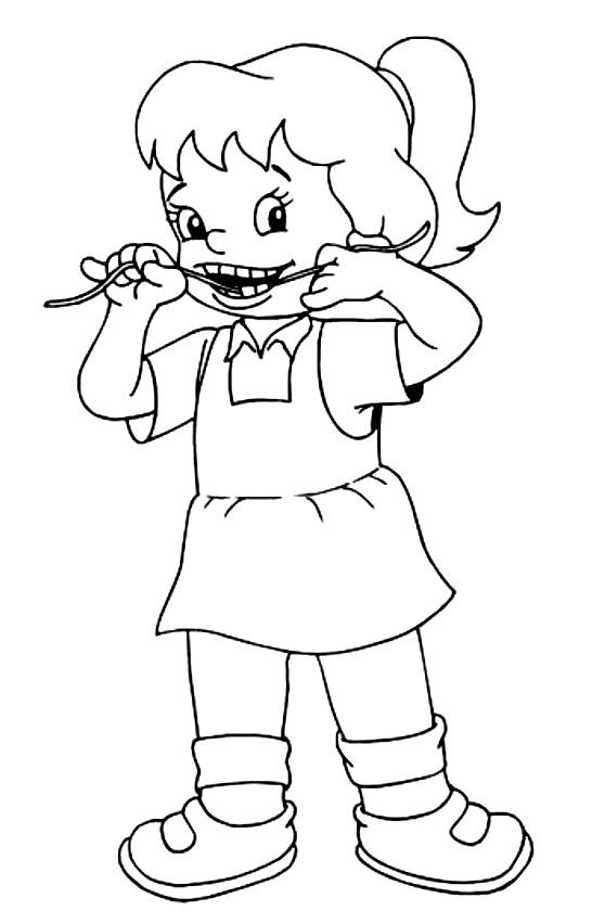 desenhos para colorir higiene pra gente miúda