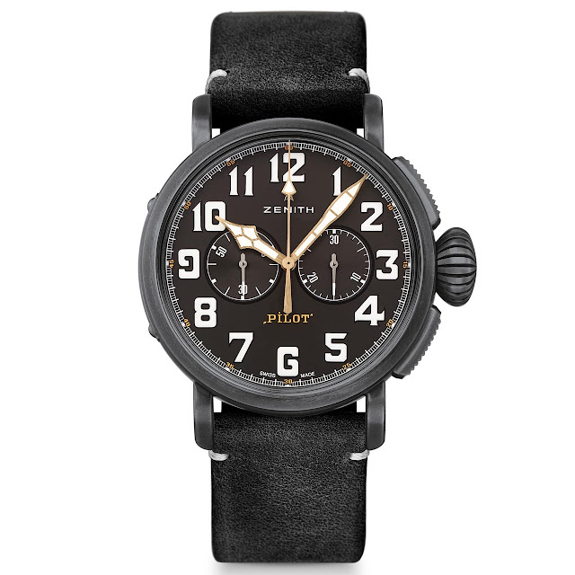 Zenith Pilot Type 20 Chronograph Ton Up Black front view