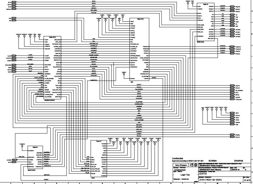 Sony Ericsson K750 Schematic Diagram  Phone Diagram
