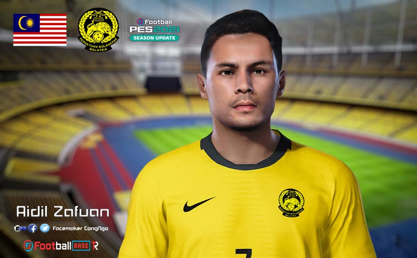 Aidil Zafuan Face For eFootball PES 2021