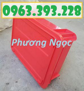 Thùng nhựa đặc B7 có nắp, hộp nhựa cơ khí, khay nhựa đặc