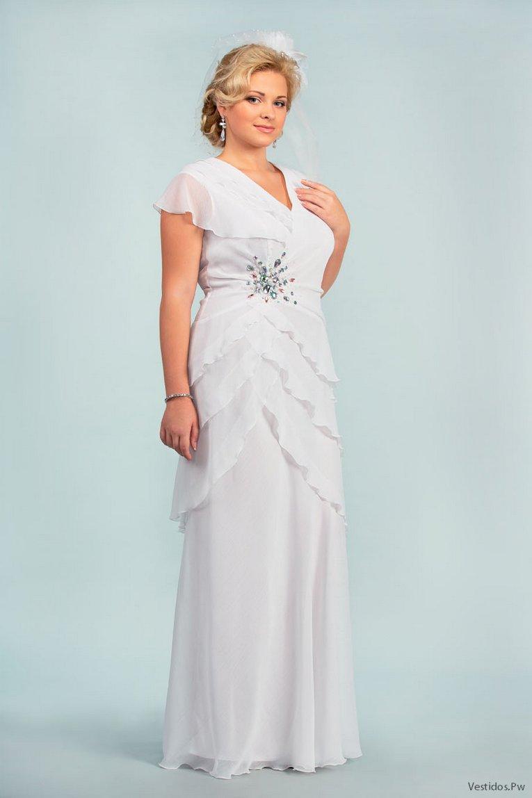 Vestidos de novia para boda civil para gorditas