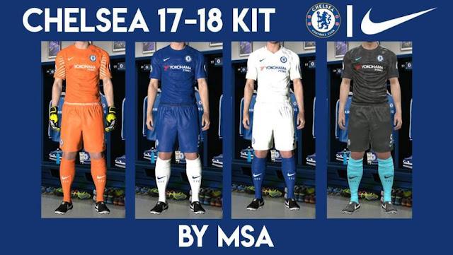 Chelsea 2017/18 Kit PES 2017