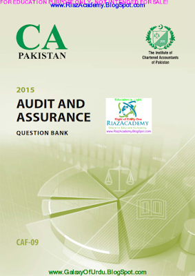 CAF-09 - AUDIT AND ASSURANCE 2015- QUESTION BANK