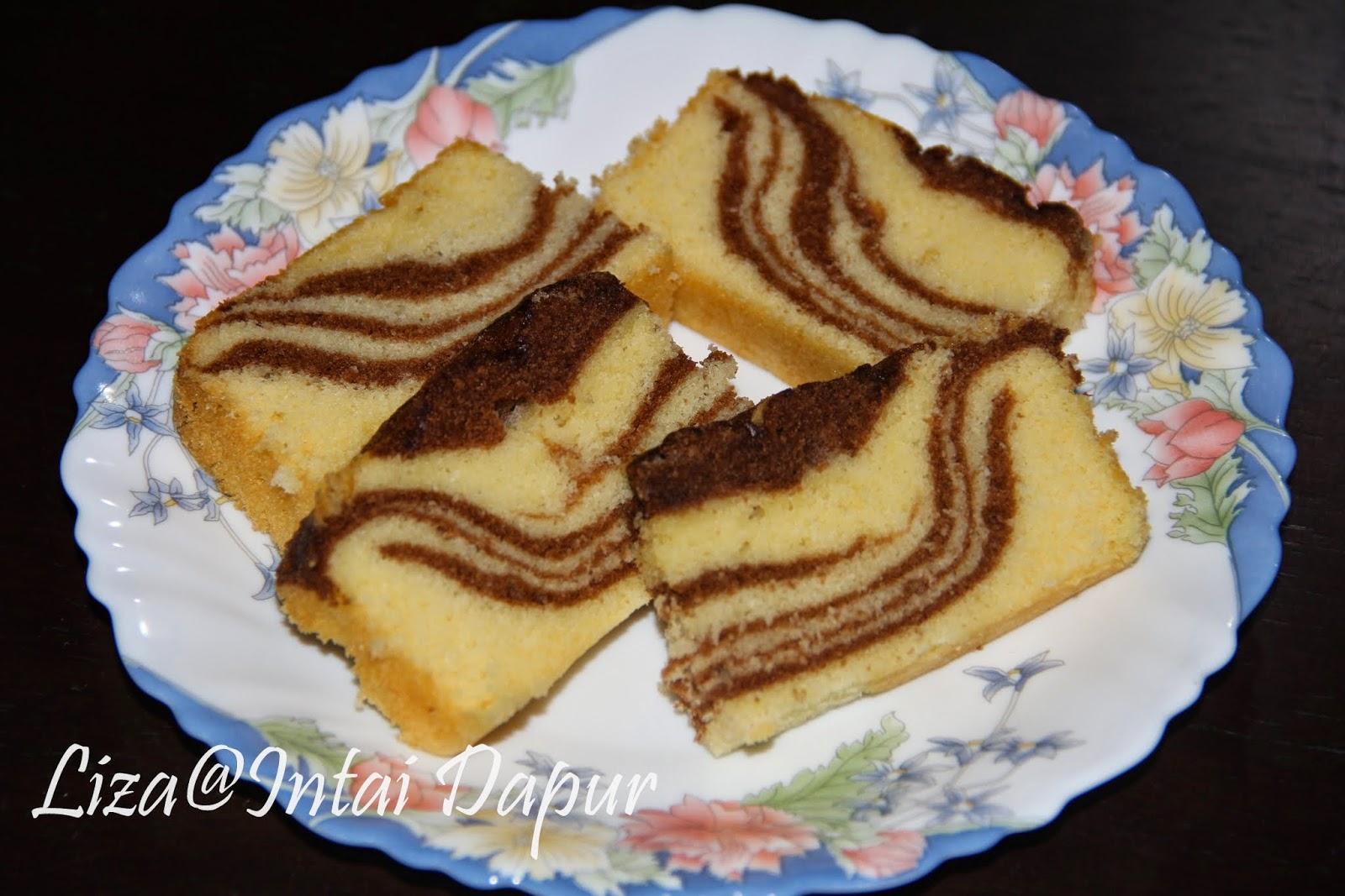 intai dapur kek marble susu Resepi Kek Guna Gelatin Enak dan Mudah