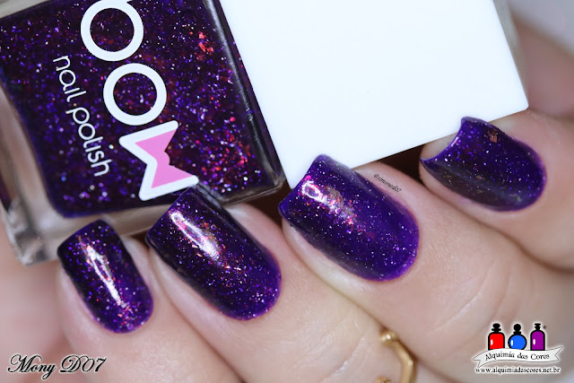 Bow Nail Polish, drown, Rings of Saturn, Zodiac, Out of Space Collection, Esmalte Russo, Tema da Semana, Post Coletivo, Flocado, Roxo, azul, teal,