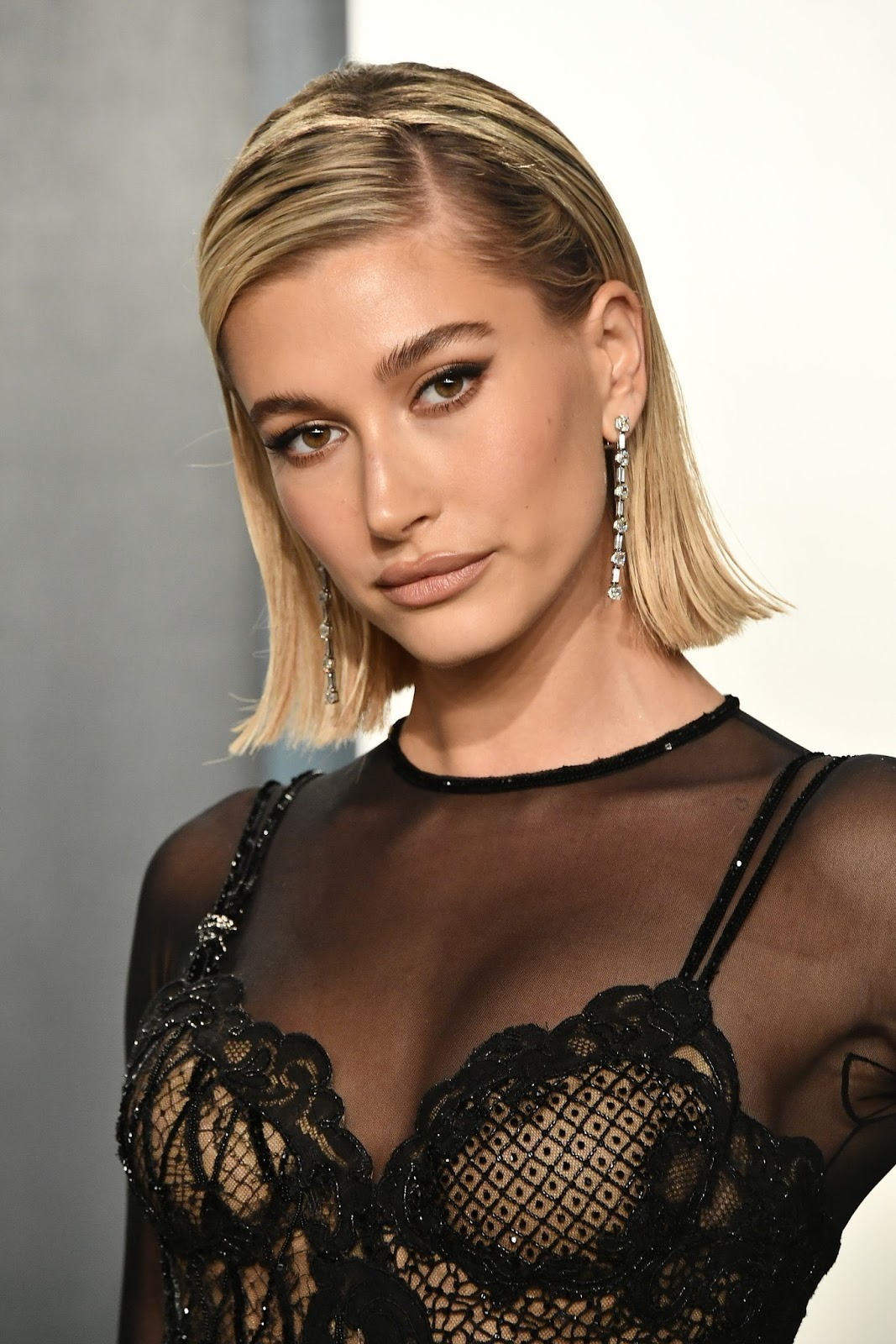 Hailey Bieber Leaves Her Undergarments at Home in Risqué Gown at the Vanity Fair Party
