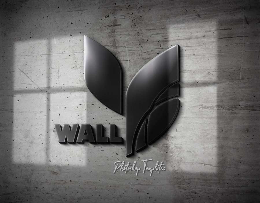 06 Wall Logo Sign Mockups