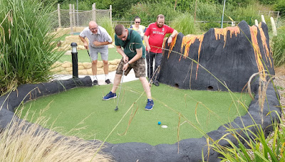 Tee-Rex Adventure Golf course at Cardiff Golf Centre. August 2019