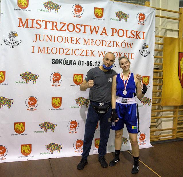 Hanna Wysocka MP Juniorek w Boksie-Sokóka 2020