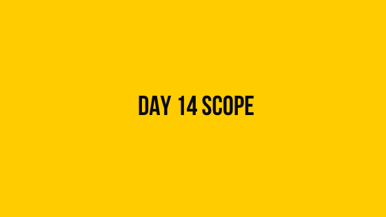 Day 14 scope Hackerrank 30 days of code solution