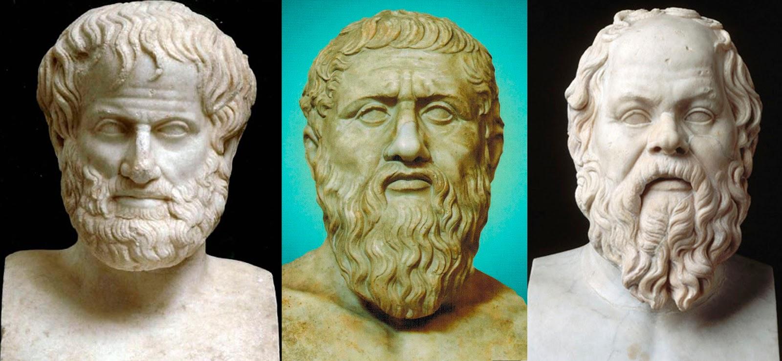 Resultado de imagem para Platão, Sócrates e Aristóteles