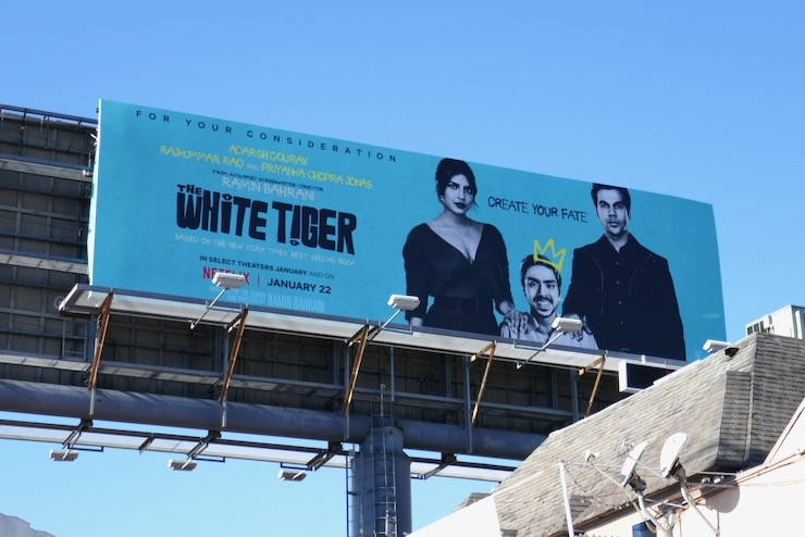 White Tiger movie FYC billboard