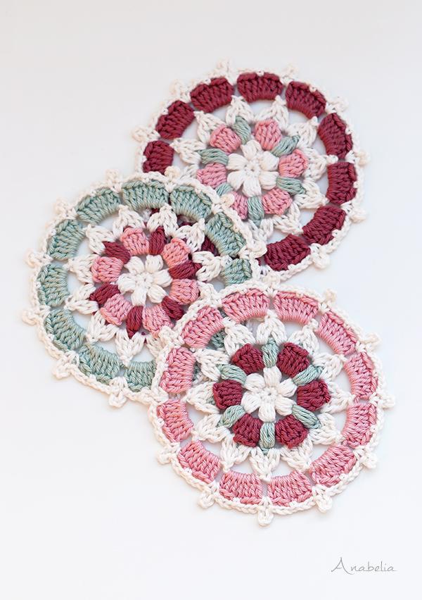 Japanese inspiration crochet motif, Anabelia Craft Design