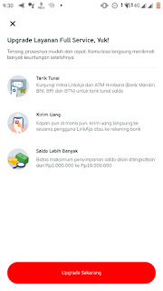 Cara Upgrade Akun LinkAja Ke Full Service
