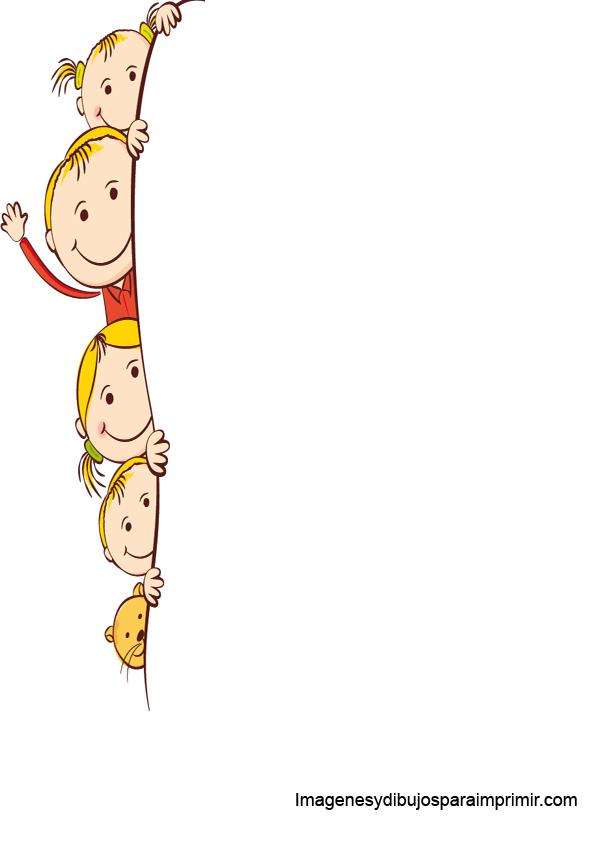Folios con ni os para imprimir imagenes y dibujos para - Cenefas de papel infantiles ...