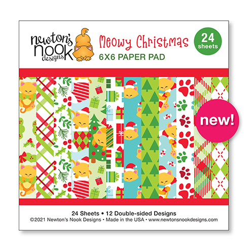 Meowy Christmas | 6x6 Paper Pad by Newton's Nook Design