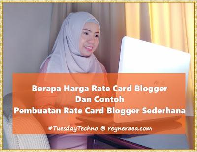 berapa harga rate card blogger