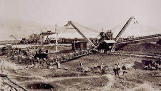 Construcción de un canal de drenaje