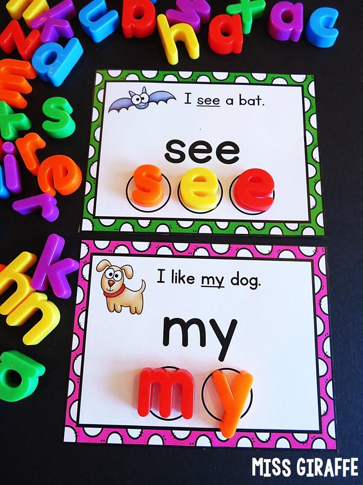 Miss Giraffe's Class: Sight Words Sentences Cards Fun Ideas ...