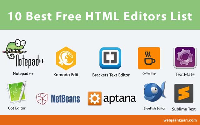 10 Best (Free & Paid) HTML Editors List Windows, Linux, MacOS Platforms Ke Liye