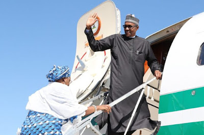 Image result for nigeria president trip ethiopia