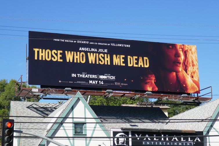 Those Who Wish Me Dead film billboard