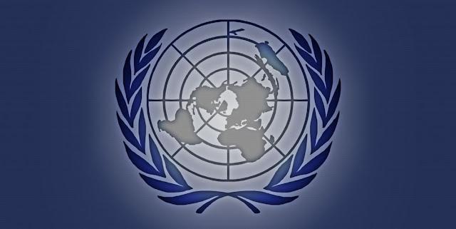 Logo de la ONU y Derecho Internacional