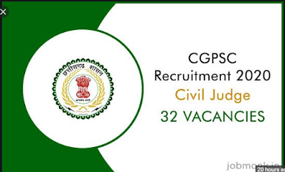 CGPSC Civil Judge Online Form | Admit Card | Result | Syllabus 2020