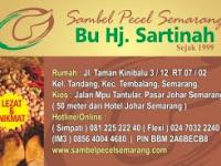 Inilah 3 Spesial Dengan Sambal Pecel Semarang Ibu Sartinah