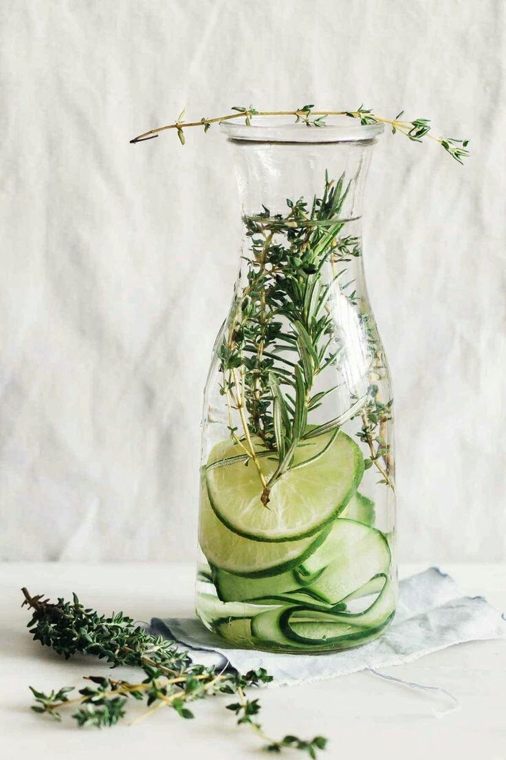 Fruits for detox water cucumber and lemon