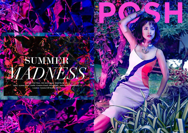 Ariel Thuta In POSH Magazine Cover Theme In Summer Madness