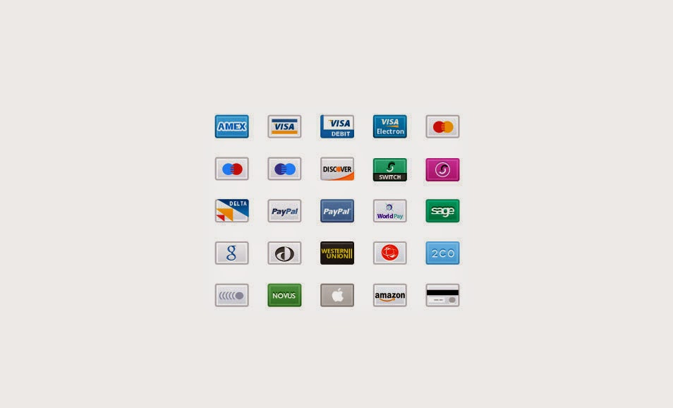 Credit Card Retina Icons
