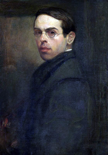 William Rothenstein, Self Portrait, Portraits of Painters, Fine arts, Portraits of painters blog, Paintings of William Rothenstein, Painter William Rothenstein    .