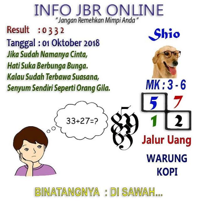 Syair Hk 01-10-2018